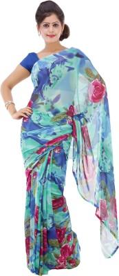 Lado Fashion Square Floral Print Fashion Georgette Sari