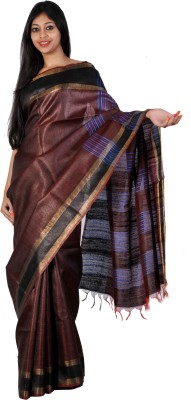 PriyanjaliBoutique Self Design Bhagalpuri Handloom Dupion Silk Sari
