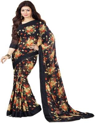 Hari Krishna sarees Floral Print Bollywood Georgette Sari