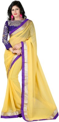 Lakshya Export Embriodered Fashion Chiffon Sari