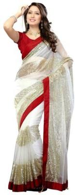 Angel De World Self Design Bollywood Handloom Net Sari