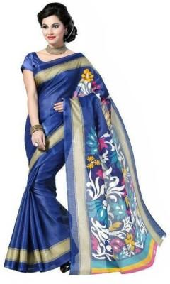 TirupatiBalaji Solid Daily Wear Cotton Lycra Blend Sari