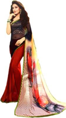 Ganghs Digital Prints, Floral Print Bollywood Georgette Sari