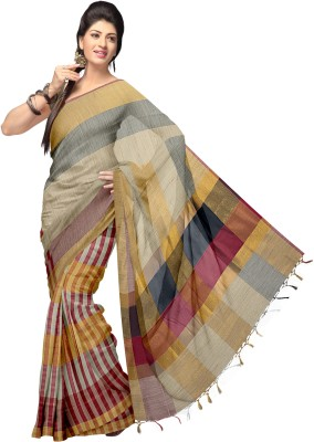 Komal Sarees Self Design, Woven Chanderi Chanderi, Art Silk Sari
