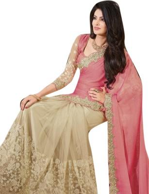 Lajo Printed Bollywood Lycra, Net Sari