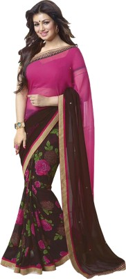 Airson Fab Printed Bollywood Georgette Saree(Multicolor) at flipkart