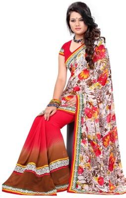 Impnew Embriodered Fashion Pure Georgette Sari