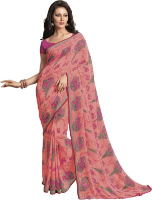 Subhash Sarees Printed Fashion Georgette Sari