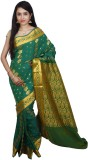 PSK Silks Self Design Kumbakonam Silk, C...