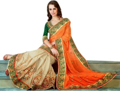 Triveni Self Design Fashion Jacquard, Viscose Sari