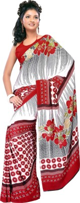 Prafful Floral Print Fashion Crepe Sari