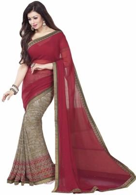 Vibha Creation Self Design Bollywood Georgette Sari