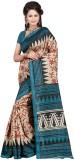 Vbuyz Printed Bhagalpuri Art Silk Saree ...