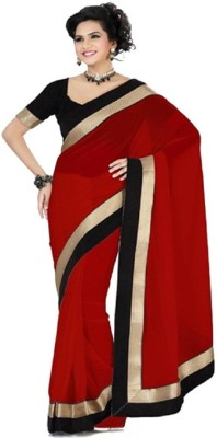 Frocksme Self Design Bollywood Pure Georgette Sari