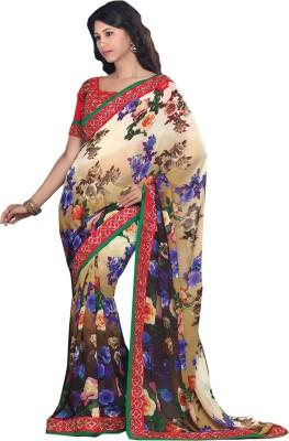 MyLady Floral Print Bollywood Georgette Sari