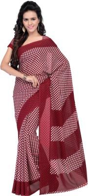 Goodfeel Polka Print Daily Wear Georgette Sari