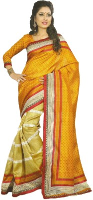 Nidhi Collection Printed Fashion Silk Sari