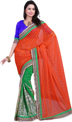 Prachi Silk Mills Self Design Fashion Georgette Sari