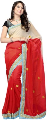 Nairiti Fashions Solid Bollywood Viscose Sari