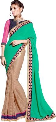 Jiya Self Design, Embriodered, Embellished Fashion Georgette Sari