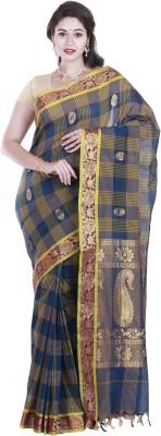 SriSyndicate Checkered Fashion Cotton Sari