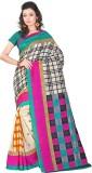 Yehii Checkered Fashion Art Silk Saree (...