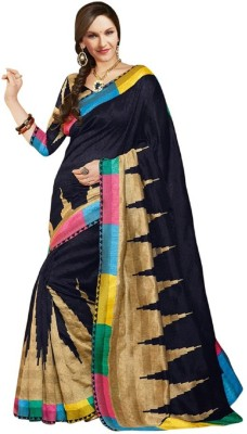 Nidhik Printed Bhagalpuri Banarasi Silk Sari