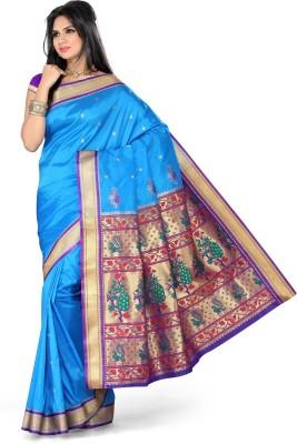 Ishin Solid Fashion Art Silk Sari