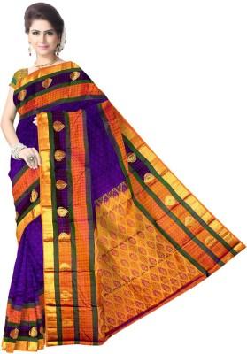 LUBDHA Woven Kanjivaram Pure Silk Sari