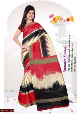 Rinkle Printed Bhagalpuri Silk Sari