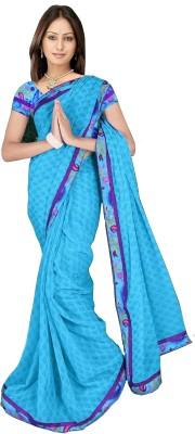 365 Labels Printed Daily Wear Chiffon Sari
