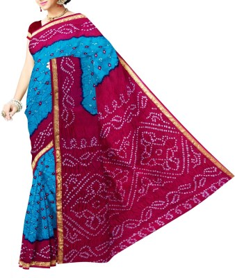 Unnati Silks Printed Bandhani Silk Sari