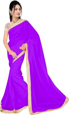 Glamoroussurat Fashion Plain Bollywood Handloom Georgette Sari