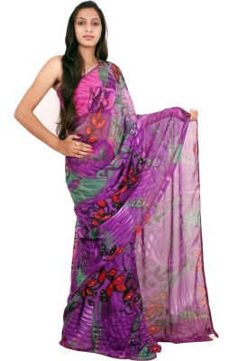 Shree Ji Solid Daily Wear Georgette Sari