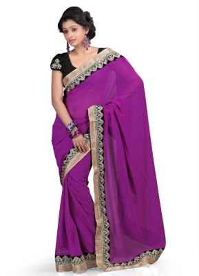 Ujjwal Creation Embriodered Fashion Pure Chiffon Sari