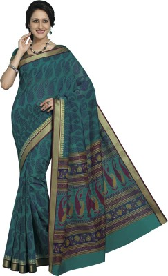 Rajguru Rise Printed Gadwal Handloom Cotton Sari