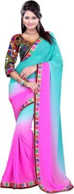 Abida Embriodered Fashion Georgette Sari