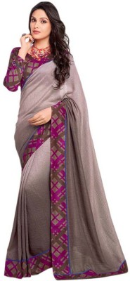 Vishal Prints Plain Fashion Georgette Sari