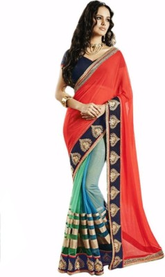 Ujjwal Creation Embriodered Bollywood Georgette Sari