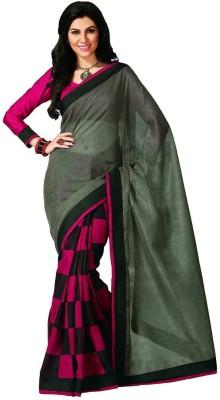 Blueberii Printed Bhagalpuri Art Silk Sari