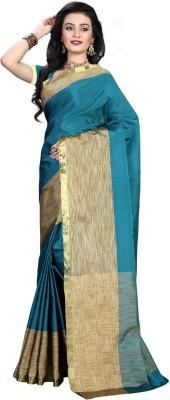 silvermoon Plain Kanjivaram Polycotton Sari