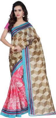 Hamsini Geometric Print Kosa Art Silk Sari