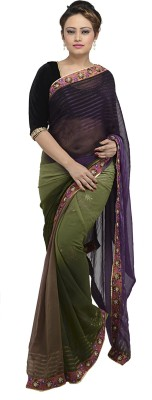 RANISHI Embriodered Fashion Georgette Sari