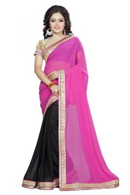 Om sai creation Embellished Bollywood Georgette Sari