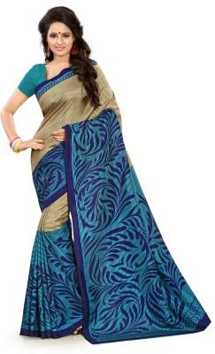 AJS Paisley, Geometric Print, Printed Fashion Art Silk Sari