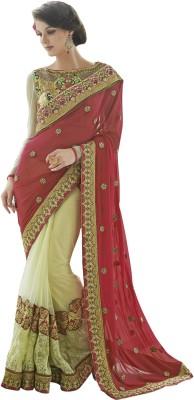 Crafts N Culture Self Design Fashion Net, Georgette Sari