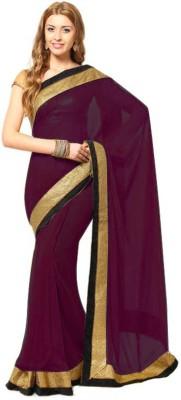 Deepak Sari Solid Fashion Georgette Sari