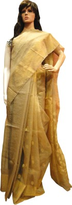 Tanjinas Floral Print Muslin Handloom Muslin Sari
