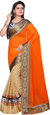 Imperialdeal Embriodered Fashion Georgette Sari