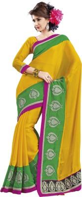 Ridhi Sidhi Solid Fashion Chiffon Sari